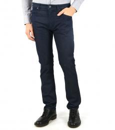 Armani Jeans Navy Blue Denim Slim Fit Jeans