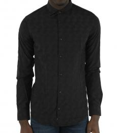Armani Jeans Black Embroidered Shirt