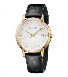 Calvin Klein Black Gold Logo Watch