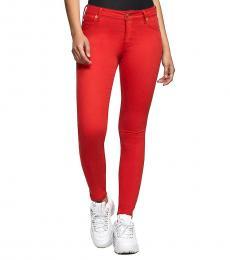 True Religion Red Jennie Skinny Fit Stretch Jeans