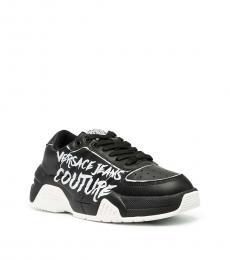 Versace Jeans Black Classic Graffiti Sneakers