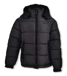 DKNY Little Boys Charcoal Parka Jacket