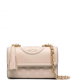 Beige Fleming Convertible Small Shoulder Bag