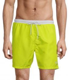 Hugo Boss Yellow Logo Drawstring Swim Trunks
