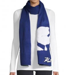 Sky Blue Knit Scarf