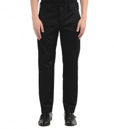 Versace Jeans Black Flat Front Dress Pants