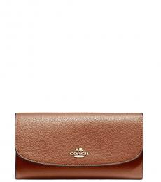 Coach Saddle Checkbook Wallet