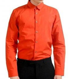 Orange Long Sleeve Casual Shirt
