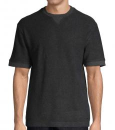 Black Casual Cotton T-Shirt