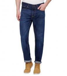 True Religion Dark Blue Slim Straight Jeanss