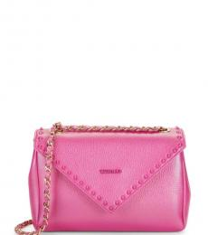 Raspberry Felicity Rockstud Medium Shoulder Bag