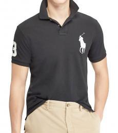 Ralph Lauren Grey White Custom Fit Big Pony Polo
