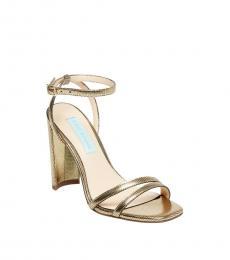 Betsey Johnson Gold Mady Heels