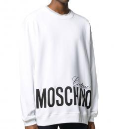 Moschino White Logo Graphic Sweatshirt