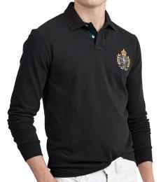 Black Classic Fit Crest Polo