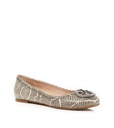Tory Burch Snake Print Reva Ballet Flats