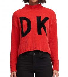 Red Front-Back Logo Sweater