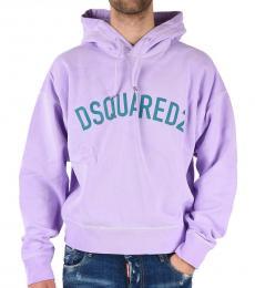 Dsquared2 Violet Logo Hoodie Sweatshirt