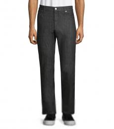 Dark Grey Straight Leg Jeans