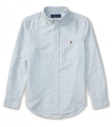 Ralph Lauren Boys Light Blue Stripe Oxford Shirt