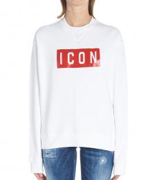 White Graphic Sweatshirt