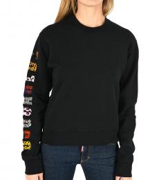 Dsquared2 Black Printed Logo Sweatshirt