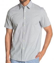Prussian Blue Short Sleeve Classic Fit Shirt