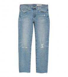 AG Adriano Goldschmied Blue Prima Crop Skinny Jeans