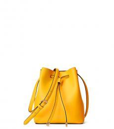 Racing Yellow Debby II Drawstring Mini Bucket Bag