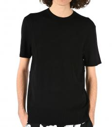 Black Knitted Sweater T-Shirt