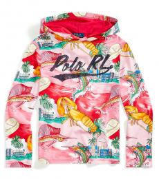 Ralph Lauren Boys Multi Tropical Beach Hooded T-Shirt