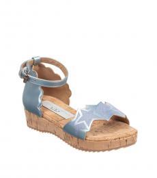 Stella McCartney Little Girls Blue Sparkling Stars Sandals
