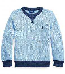 Little Boys Chambray Heather Textured Sweater