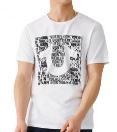 True Religion White Horseshoe Logo T-Shirt