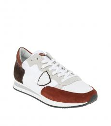 White Brown Tropez Sneakers