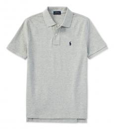Ralph Lauren Little Boys New Grey Heather Pique Polo