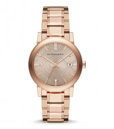Burberry Rose Gold Logo Watch