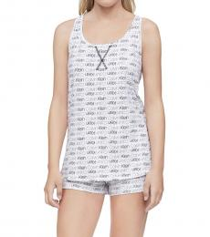 Calvin Klein Leopard Cascade Black Racerback Tank Shorts Pajama Set