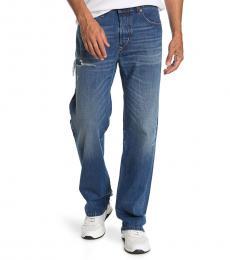 Diesel Blue Kodeck Distressed Straight Leg Jeans