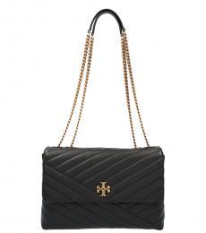 Tory Burch Black Kira Chevron Convertible Medium Shoulder Bag