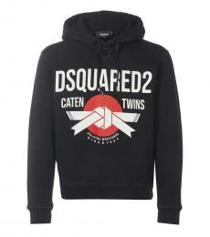 Dsquared2 Black Front Logo Hoodie