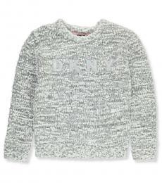 DKNY Girls Grey Logo Sweater