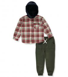 DKNY 2 Piece Hoodie/Joggers Set (Little Boys)