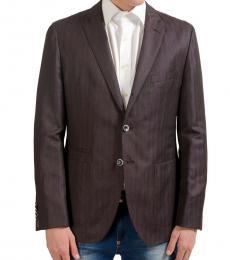 Maroon Wool Linen Blazer