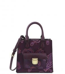 Plum Brigette Small Satchel