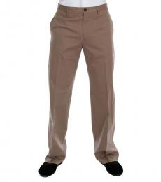 Dolce & Gabbana Beige Cotton Stretch Pants
