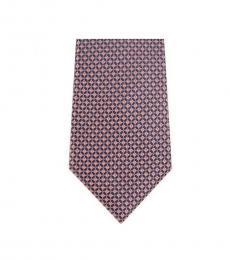 Michael Kors Pink Traditional Geo Slim Silk Tie