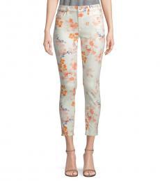 Loft Garden Skinny Floral Ankle Jeans