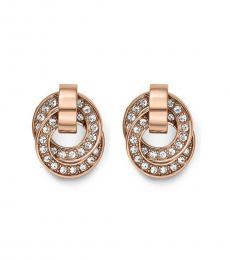 Michael Kors Rose Gold Double Interlocking Earrings