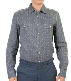 Blue Multi-Color Casual Shirt